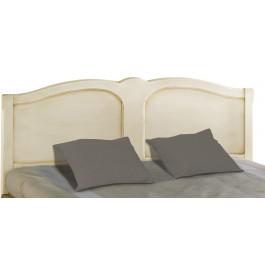 Tête de lit tilleul massif laqué craie pour lit 160