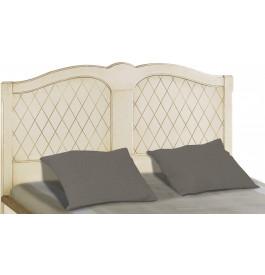 Tête de lit tilleul massif laque craie losange pour lit 140
