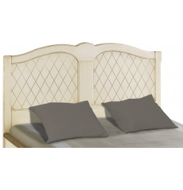 Tête de lit tilleul massif laque craie losange pour lit 160