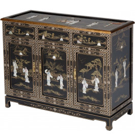 Buffet 3 portes chinois