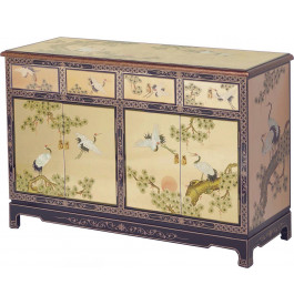 Buffet chinois 4 portes
