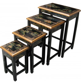 Tables gigognes chinoises noires