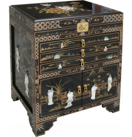 m nag re meuble bijoux chinois laque noire. Black Bedroom Furniture Sets. Home Design Ideas