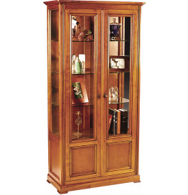 vitrine merisier massif 2 portes 3 tag res louis philippe. Black Bedroom Furniture Sets. Home Design Ideas