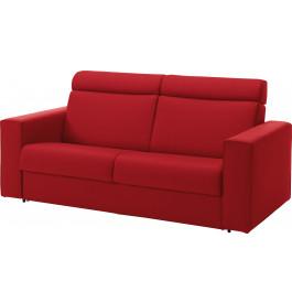 Canapé rapido 3 places convertible ALTO tissu rouge