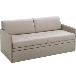 Canapé gigogne 3 places convertible OASIS tissu gris clair