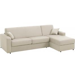 Canapé d'angle rapido convertible SAFIRA tissu blanc