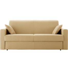 Canapé rapido 4 places convertible STELLA tissu beige