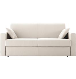 Canapé rapido 4 places convertible STELLA tissu blanc