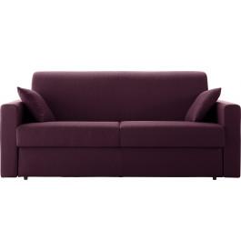 Canapé rapido 4 places convertible STELLA tissu violet