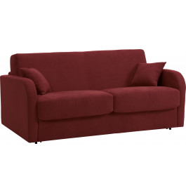 Canapé rapido 2 places convertible STAR microfibre bordeaux