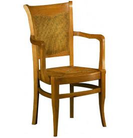 Fauteuil chêne assise paille