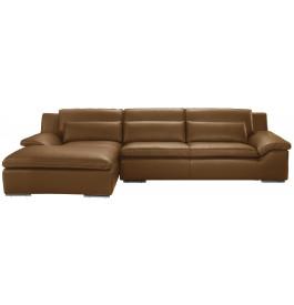Canapé d'angle L280 cuir Greta caramel