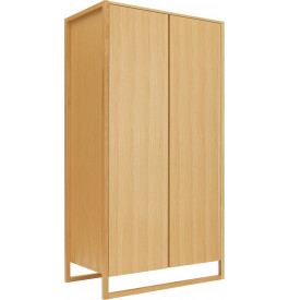 armoire scandinave ch ne naturel 2 portes. Black Bedroom Furniture Sets. Home Design Ideas