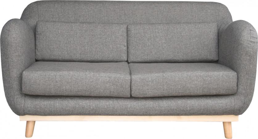 Canapé scandinave 2 places tissu gris clair