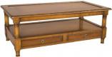 Table Basse double plateau 2 tiroirs