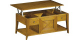 Table bar chêne plateau escamotable