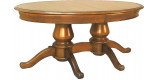 Table ovale merisier L200 2 pieds 2 allonges