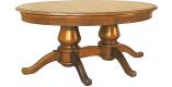 Table ovale merisier L200 2 pieds 2 allonges