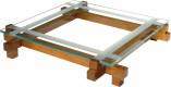 Table basse carrée plateau verre