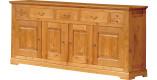 Buffet H110 chêne 4 portes 5 tiroirs