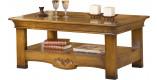 Table basse rectangulaire chêne double plateau