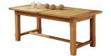 Table de Ferme rectangulaire chêne L200 2 allonges