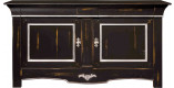 Buffet chêne massif noir 2 portes 3 tiroirs
