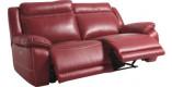 Canapé relax électrique cuir rose 3 places – NEVADA