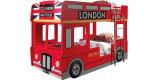 Lit enfant superposé bus londres 90x200