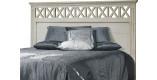 Tête de lit chêne blanc pour lit 140 décors croisillons