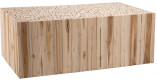 Table basse rectangulaire branches teck naturel