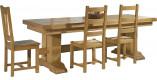 Table rectangulaire monastère chêne massif doré L220