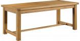 Table de ferme rectangulaire chêne massif ciré