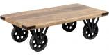table basse palissandre à roues