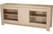 10291 - Buffet 3 portes chêne et verre 1 tiroir