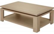 10431 - Table basse double plateau chêne blanc pierre