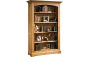 10550 - Bibliothèque ouverte chêne massif ciré 4 étagères