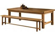 10606 - Table de ferme chêne massif ciré L220