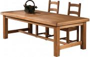 10622 - Table de ferme chêne massif ciré L220