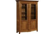 10933 - Bibliothèque merisier 2 portes