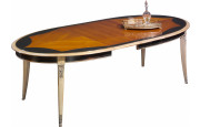 Table ovale merisier