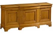 11441 - Buffet chêne 3 grandes portes, 3 tiroirs
