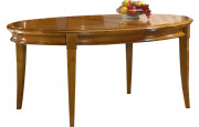 11455 - Table ovale chêne L160 4 pieds sabre