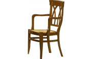 11463 - Fauteuil Lyre assise paille