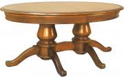 11481 - Table ovale 200 cm avec 2 pieds quadripodes