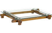 13018 - Table basse rectangulaire plateau verre