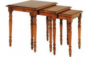 1303 - Tables gigognes merisier antiquaire