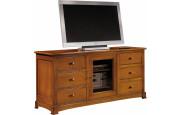 13053 - Meuble TV-Hifi 6 tiroirs 1 porte vitrée