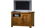 1786 - Meuble TV - Hifi chêne 1 porte 1 niche 2 tiroirs